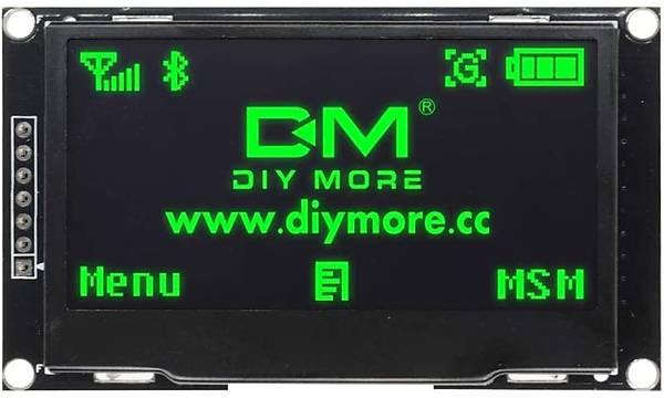 2.42 Ýnç 128x64 I2C/SPI OLED Grafik LCD Ekran (Yeþil)