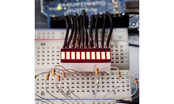 SparkFun 10 Segment LED Bar Graph - Kýrmýzý