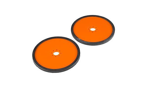 Precision Disc Wheel - 4inc (Orange, 2 Pack)