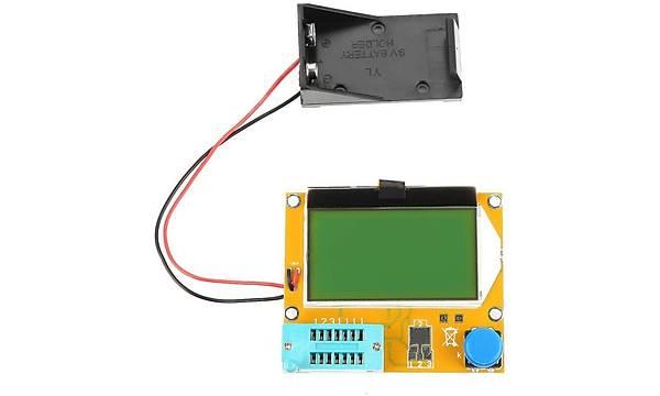 Elektronik Komponent Test Aleti (LCR-T4) LCD Ekran ESR SCR