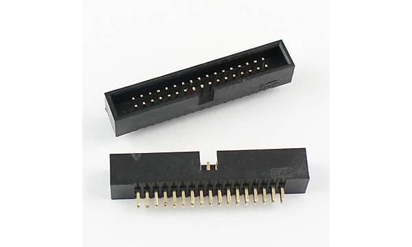 2x17 Pin Shrouded Box Header  2.54mm Male