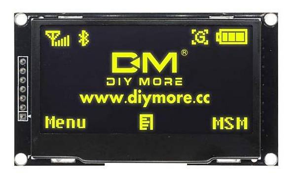 2.42 Ýnç 128x64 I2C/SPI OLED Grafik LCD Ekran (Sarý)