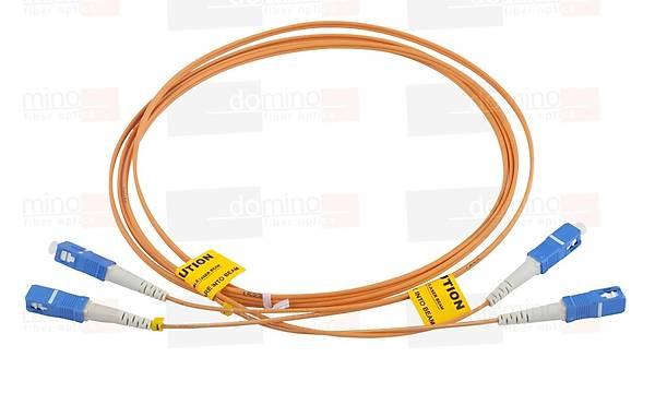 SC-SC MM 62,5/125 Duplex F/O Patchcord L:1m