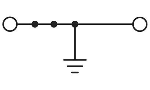 Modüler topraklama klemensi - PT 2,5-PE