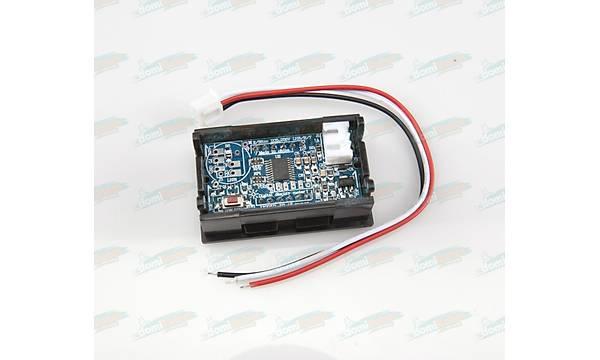 Dijital Panel Voltmetre H27V3 DC 0-30V- Kýrmýzý - 3 Telli