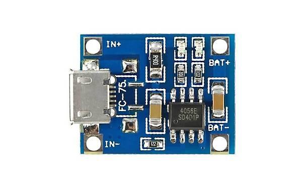 TP4056 3.7V Þarj Devresi - 5V 1A Lithium Battery Charger