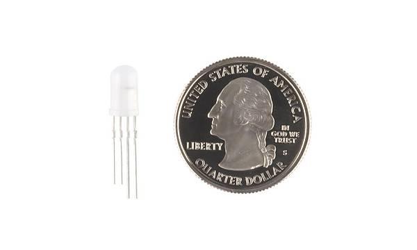 5mm RGB LED Adreslenebilir, PTH, Diffused