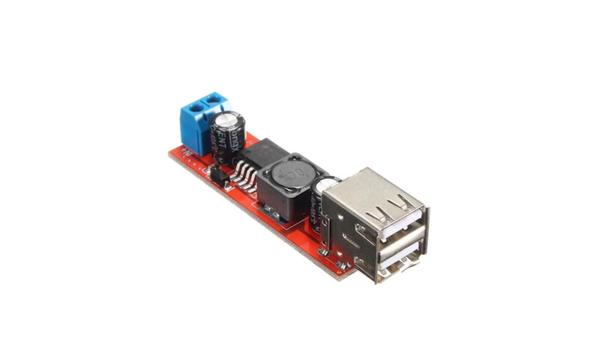 Çift USB Çýkýþlý 9V-36V'dan 5V'a Gerilim Azaltýcý Modülü
