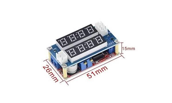XL4015 5A Çift Ekranlý Gerilim Azaltýcý Modül