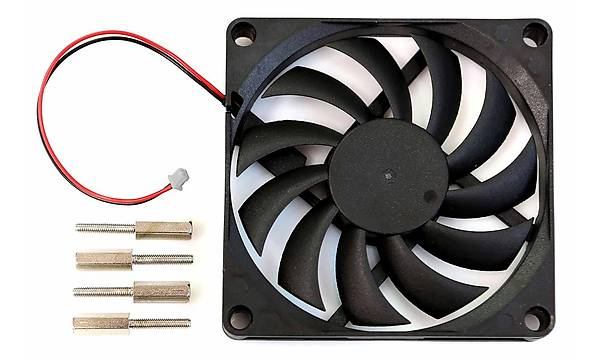 80 x 80 x 10.8mm Cooling Fan with 2pin Connector