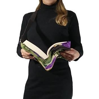 Kitap Okuma Çantasý (Mor Gül)