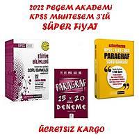 Pegem Akademi 2022 Kpss Eðitim Modüller Soru Bankasý+Pegem 2022 Paragraf Soru Bankasý+Paragraf Seti