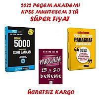 Pegem Akademi 2022 Kpss GyGK 5000 Soru Bankasý+Pegem 2022 Paragraf Soru Bankasý+Paragraf Seti