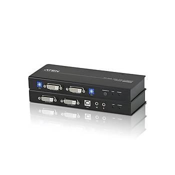 ATEN CE604-AT-G USB DVI DUAL VIEW CAT 5 KVM EXTENDER