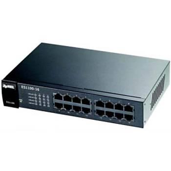 ZYXEL ES1100-16 16 PORT 10/100 Mbps FAST ETHERNET YONETILEMEZ SWITCH