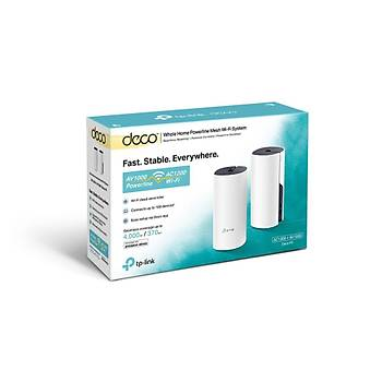TP LINK DECO P9(2-PACK) AC1200 WHOLE-HOME HYBRID MESH WI-FI SYSTEM