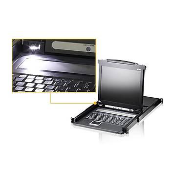 ATEN CL1008M-ATA-TQG 8-PORT PS/2 VGA LCD KVM SWITCH W/TQ KB