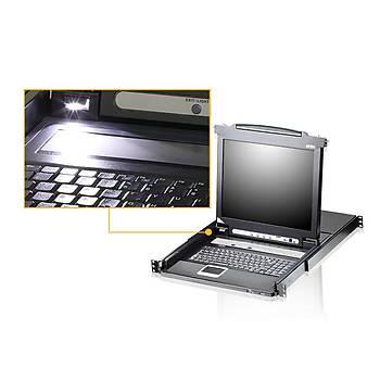 ATEN CL5716FM-AT-AG 17 16P PS/2-USB VGA LCD KVM SW. W/US KB