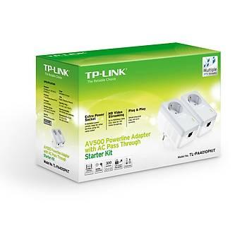 TP-LINK TL-PA4010P KIT AV500 AC GÜÇ SOKETLÝ POWERLÝNE ADAPTÖR