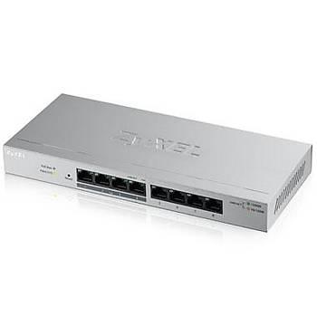 ZYXEL GS1200-8HP V2 8 PORT (4x10/100/1000+4x10/100/1000 POE) WEB YÖNETÝLEBÝLÝR POE SWITCH (60 WATT)