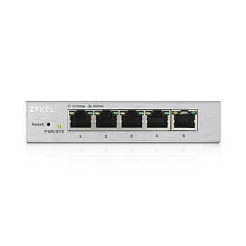 ZYXEL GS1200-5 5 PORT 10/100/1000 Mbps GIGABIT WEB YONETÝLEBÝLÝR SWITCH