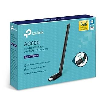TP-LINK Archer T2U PLUS 600 MBPS YÜKSEK KAZANÇLI KABLOSUZ DUAL BAND USB ADAPTÖR