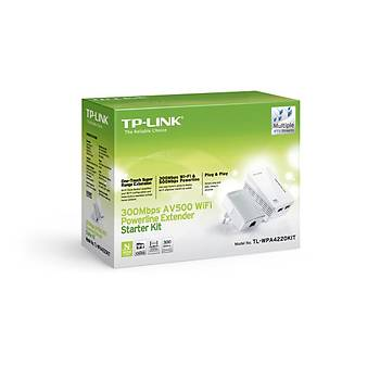TP-LINK TL-WPA4220 KIT 300Mbps AV600 KABLOSUZ POWERLINE GENÝÞLETÝCÝ