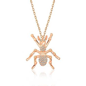 Gümüþ Örümcek Bayan Kolye
