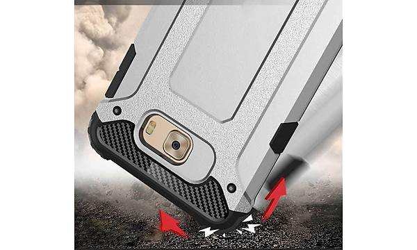 Galaxy C7 Pro Kýlýf Zore Crash Silikon Kapak