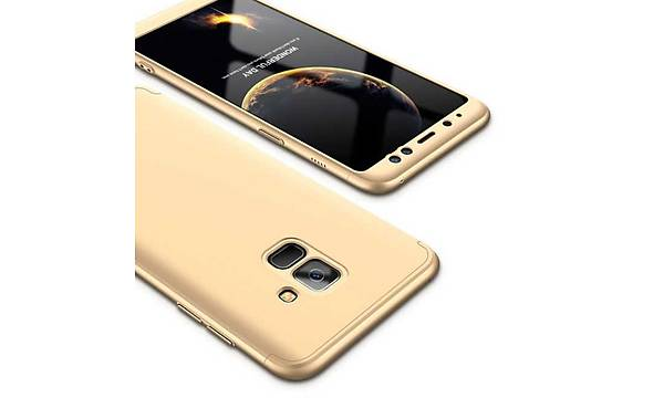 Galaxy A8 Plus 2018 Kýlýf Zore 360 3 Parçalý Rubber Koruma