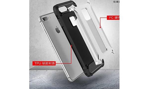 Apple iPhone 8 Plus Kýlýf Zore Crash Silikon Kapak