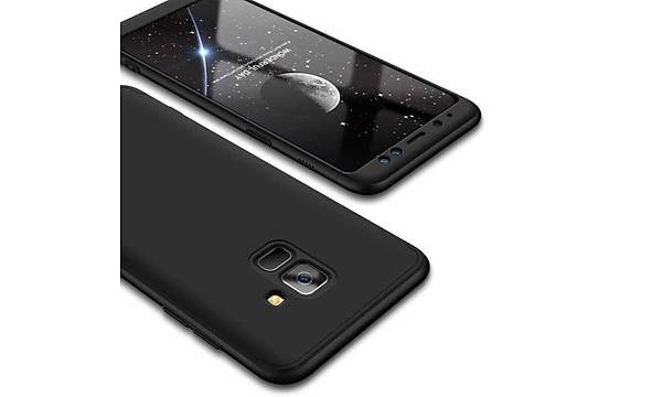 Galaxy A8 2018 Kýlýf Zore 360 3 Parçalý Rubber Koruma