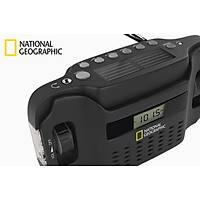 National Geographic Güneþ Enerjili Manyetolu Radyo + El Feneri