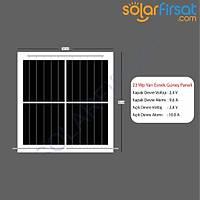 23 Watt Özel Ölçü Esnek Güneþ Paneli