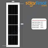 23 Watt Özel Ölçü Esnek Güneþ Paneli Dikey