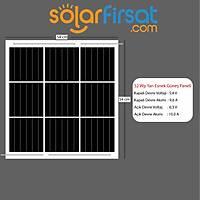 52 Watt Özel Ölçü Esnek Güneþ Paneli