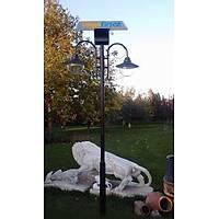 2x9 Watt Led Solar Bahçe Aydýnlatmasý