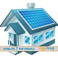 Güneþ Enerjisi Paketi / Günlük 7 Kw Enerji