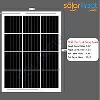 70 Watt Özel Ölçü Esnek Güneþ Paneli