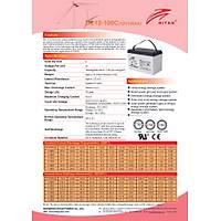 Ritar Carbon Akü 100 Amper 12 Volt