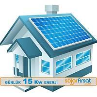 Güneþ Enerjisi Paketi / Günlük 15 Kw Enerji