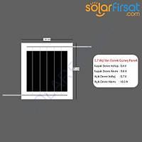 5 Watt Özel Ölçü Esnek Güneþ Paneli