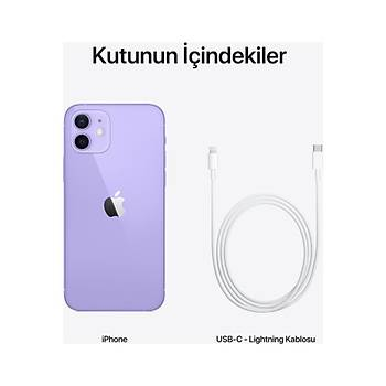 Apple Iphone 12 64 GB Purple MJNM3TU/A (Apple TR Garantili)