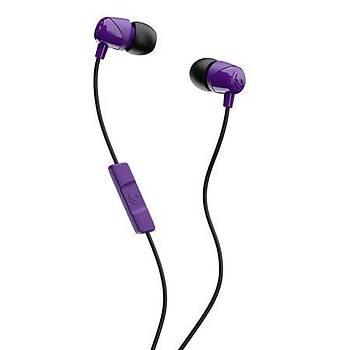 Skullcandy Jib In Ear Mikrofonlu Kulak Ýçi Kablolu Kulaklýk S2DUYK-629 Mor-Siyah