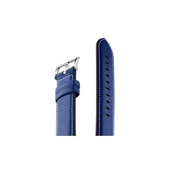 Honor Watch Magic Orijinal Deri Kordon 42mm - 46mm Koyu Mavi