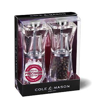 Cole & Mason H37408P Crystal 125mm Tuz&Biber Deðirmeni Seti