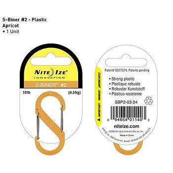 Nite-ize S-Biner Plastik Size 2 Apricot