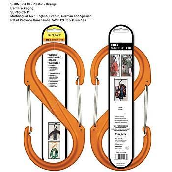 Nite-ize S-Biner Plastik Size 10-Orange