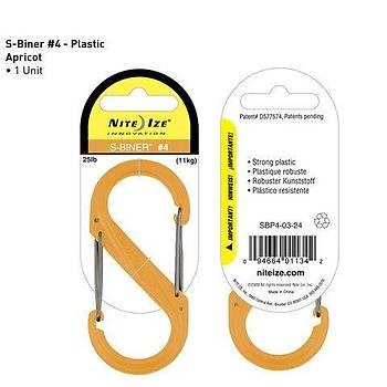 Nite-ize S-Biner Plastik Size 4 Apricot