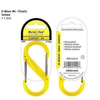 Nite-ize S-Biner Plastik Size 4 Yellow